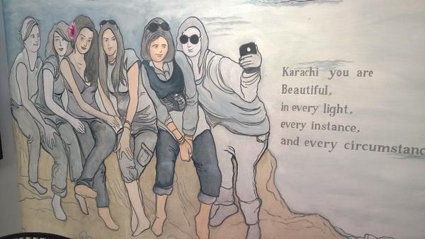 Murals at Cosmopolitan Cafe