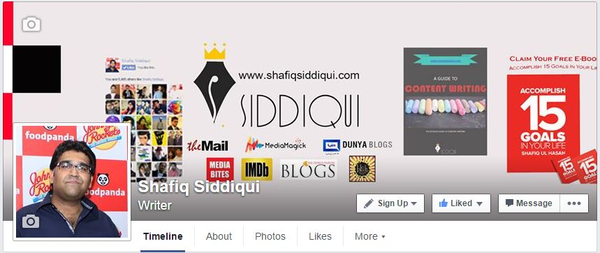 Facebook Fan Pages Shafiq