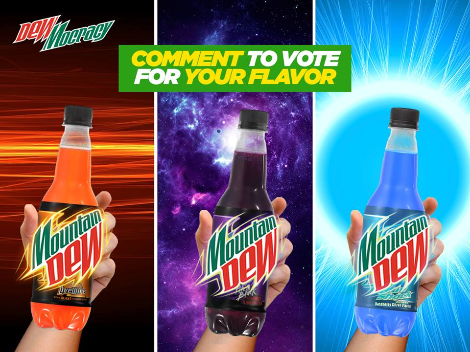 dewmocracy mountain dew launches 3 flavors