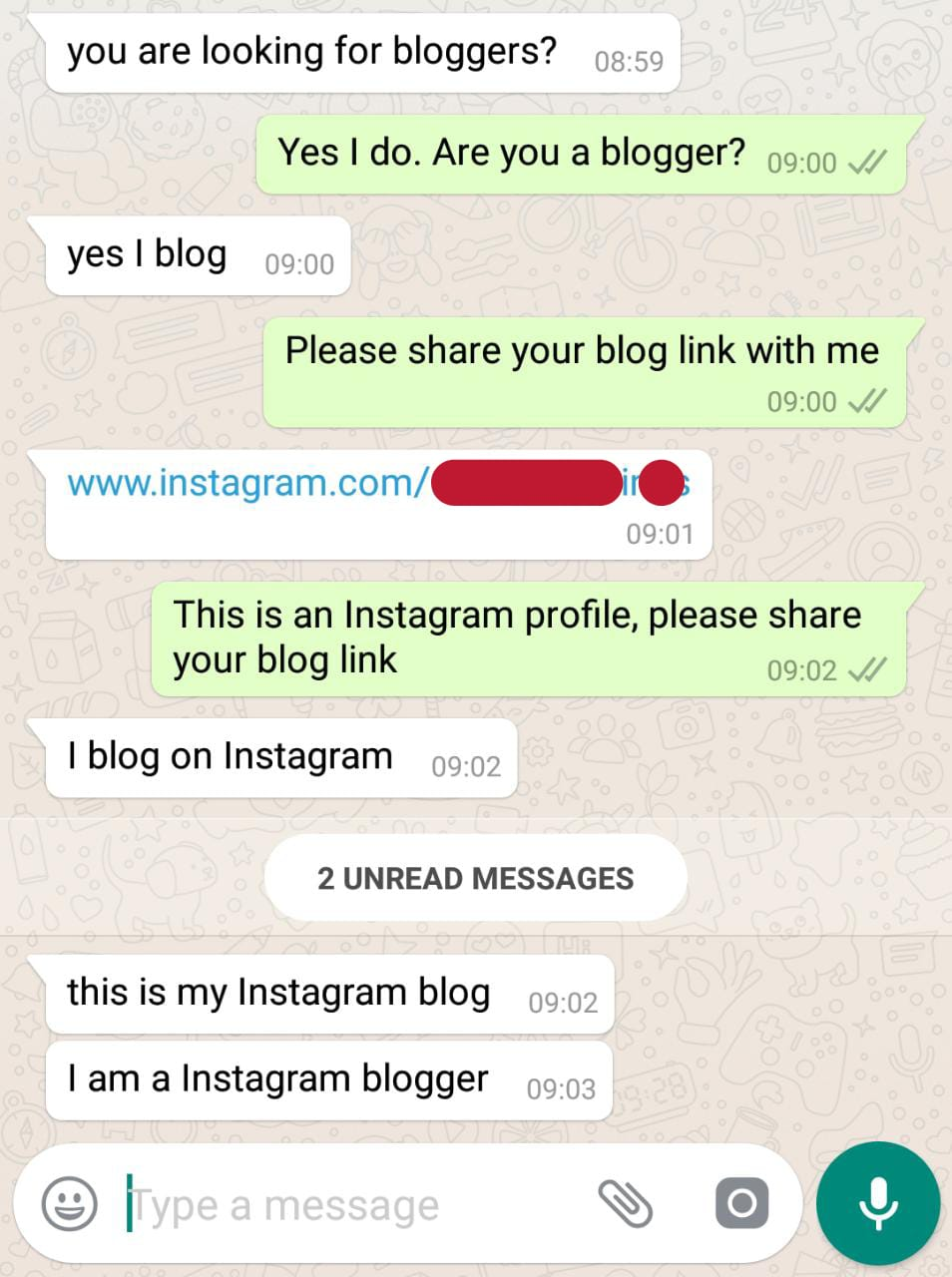 Instagram and blog